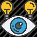 scrum, development, vision, sight, eye, lightbulb
