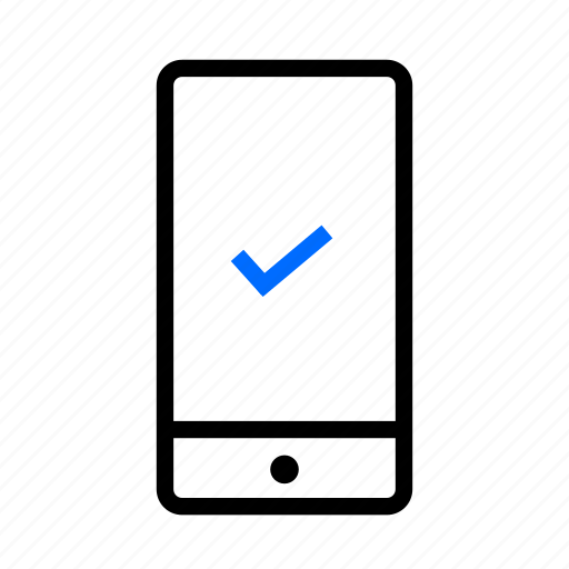 approved, checkmark, mobile, sprint demo, user test icon