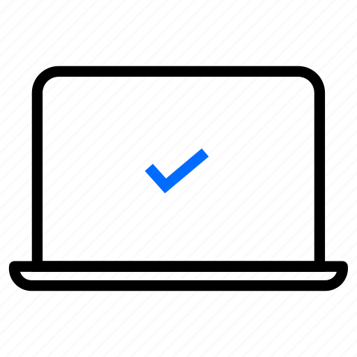 approved, checkmark, device, sprint demo, user test icon