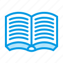 book, open, read, study icon