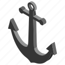 anchor, boat stopper, bower, drag sail, drift anchor, drouge, sheet anchor icon