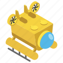 dive machine, scuba diving machine, scuba gear, swimming transport, underwater diving icon