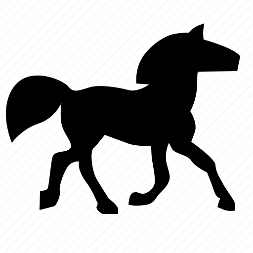 animal, horse, steed, walk icon