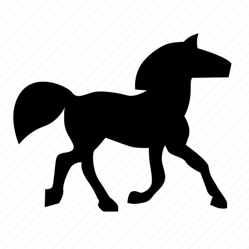 animal, go, horse, race, steed, walk icon