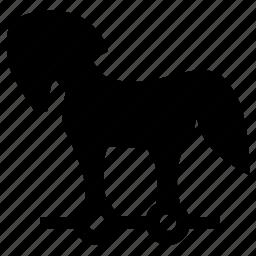 animal, figure, grecian, horse, trojan icon