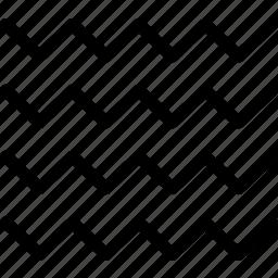 ocean, sea, summer, water, wave, zigzag icon