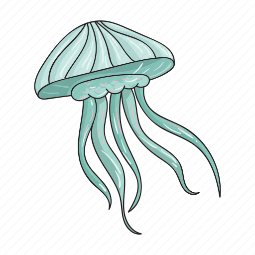 Animal, jellyfish, sea, tentacles icon - Download on Iconfinder