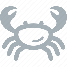 animals, crab, sea icon