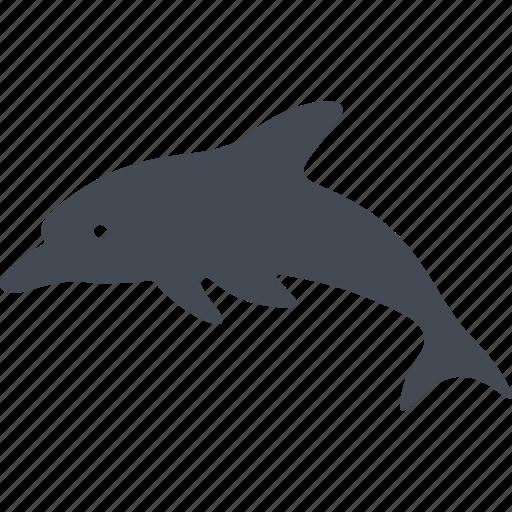 animal, dolphin, fins, fish, ocean, sea, water icon