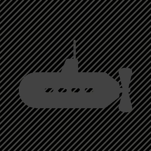 metal, ocean, parachuting, ship, submarine, travel, weapon icon