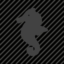 animal, creature, horse, sea, seahorse, slender icon