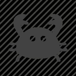 animal, crab, fresh, meal, red, sea, seafood icon