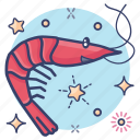 crustaceans\, food, sea creature, seafood, shrimp icon