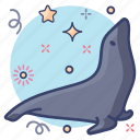 aquatic animal, creature, pinniped, seal, specie, submarine icon