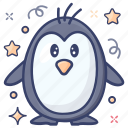 aquatic bird, flightless bird, penguin, sea creature, sea life icon