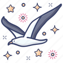 gull, kittiwake, laridae, seabird, seagull icon