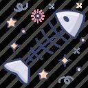 bony shell, cartilaginous fish, exoskeleton, fish skeleton, fishbone icon