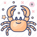 food, seafood, sea creature, crab, crustaceans icon