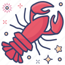 food, seafood, sea creature, lobster, crustaceans icon