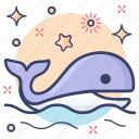 mammal, marine animal, sea creature, sea life, whale icon