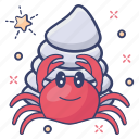 food, seafood, hermit crab, sea creature, crustaceans icon