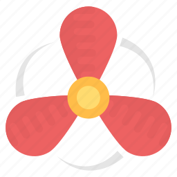 exhaust fan, fan blade, propeller fan, rotating fan, ventilator propeller icon