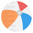 ball, beach ball, inflatable ball, inflatable beach ball, toy icon