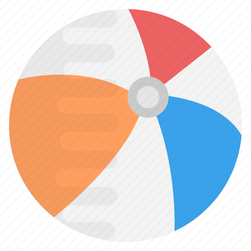 ball, beach ball, inflatable ball, inflatable beach ball, toy icon