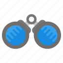 binocular, explorer, search, spy, vision icon