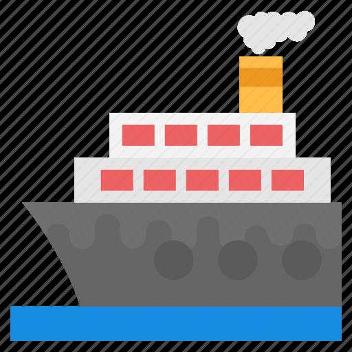 boat, cruiser, ship, steamboat, steamship icon