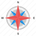 compass, compass rose, directional tool, geolocation, navigation icon