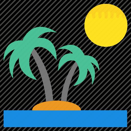 island, natural view, sandy beach, sandy coast, tropical beach icon