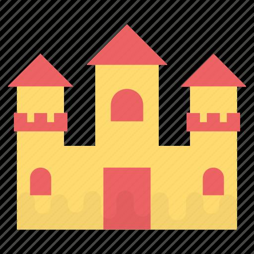 beach castle, cartoon castle, fairy castle, luxury home, magic castle, mansion icon