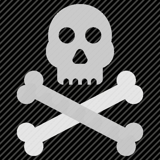 danger sign, death skull, pirate symbol, skull and crossbone, warning sign icon