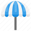 beach umbrella, garden umbrella, outdoor parasol, outdoor restaurant umbrella, outdoor umbrella icon