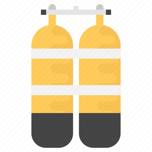 cylinders, diver, diving, equipment, icon, oxygen, scuba, tanks icon