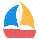 boat, sailboat, ship, watercraft, yacht icon
