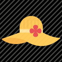 brimmed sun cap, fashion sun hat, floppy hat, stylish summer hat, sun hat icon