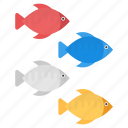 cartoon fishes, colored fishes, fishes, tropical fishes