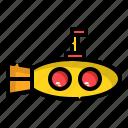 sea, submarine, underwater