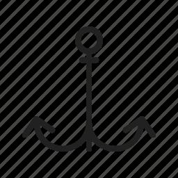 anchor, boat, marine, rope, sea, ship, travel icon