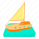 boat, cartoon, cruise, private, recreation, tour, yacht