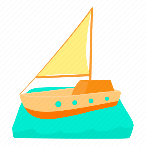 boat, cartoon, cruise, private, recreation, tour, yacht icon