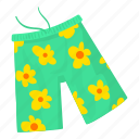 beach, beach shorts, cartoon, clothing, elastic, panties, swimsuit icon