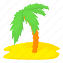 cartoon, island, palm, palm tree, travel, tree, tropical icon