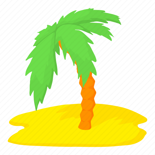 Cartoon, island, palm, palm tree, travel, tree, tropical icon