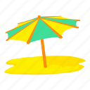 beach, cartoon, summer, sun umbrella, travel, umbrella, vacation icon