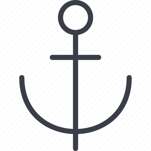 anchor, beach, ocean, sea, ship, travel, water icon