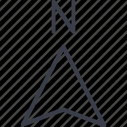 arrow, gps, map, navigation, north, sea, weather icon
