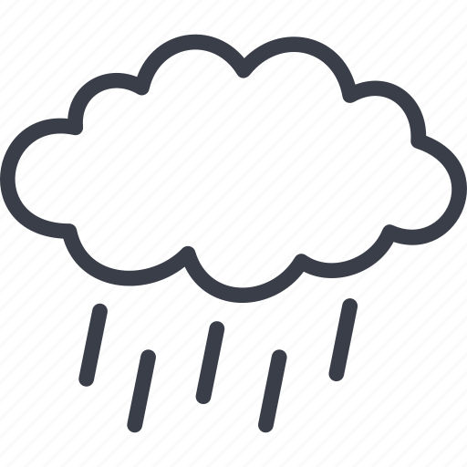 cloud, clouds, cloudy, rain, sea, thermometer, weather icon